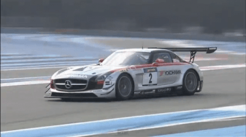 Mercedes Benz SLS AMG GT3 in Actie