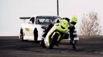 RX7 vs ZX10 Drift battle