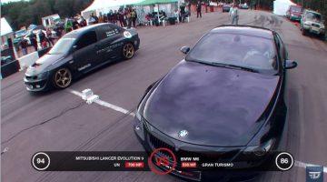 10 sec Lancer EVO 9 vs BMW M6