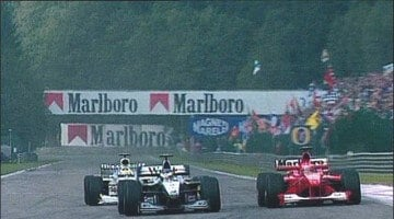 F1 Spa 2000 Hakkinen vs Schumacher