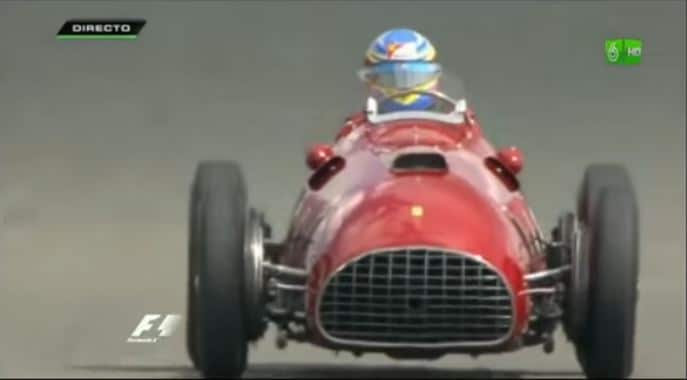 Fernando Alonso in Ferrari 375 F1