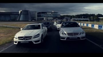 The Silver Arrows of Mercedes Benz World