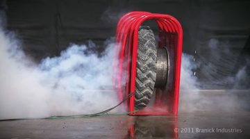 Tire Explosion in slow motion