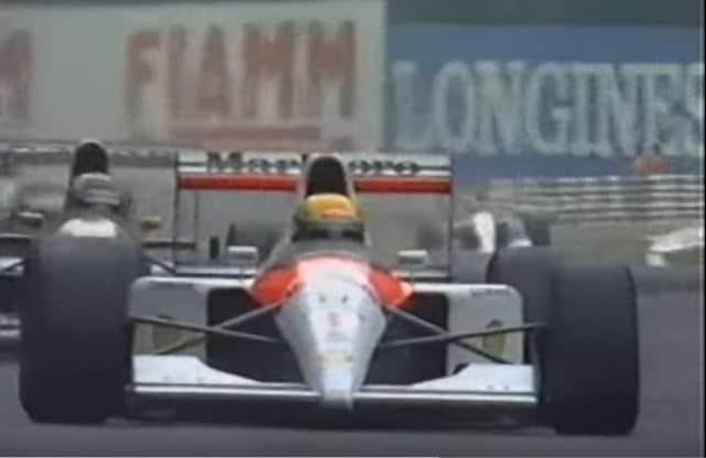 Ayrton Senna vs Nigel Mansell Monza 1991