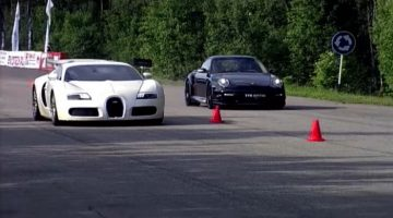 Bugatti Veyron vs 911 Turbo Switzer R750