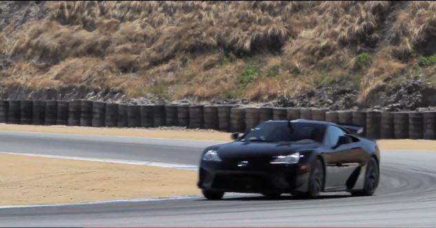 Lexus LFA hot lap Lagunca Seca