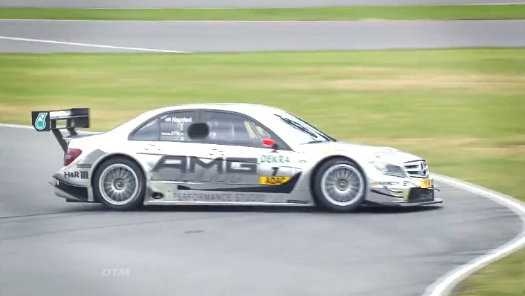 Nicky Hayden test Mercedes DTM