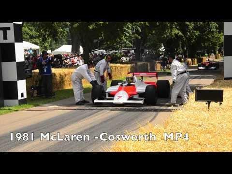 62 jaar Formule 1 auto's