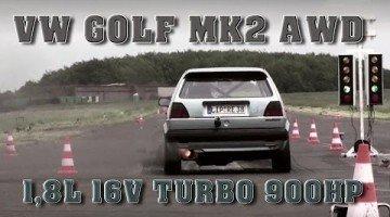 VW Golf MK2 1.8 met 920 pk