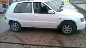 Mega Skills op een Flatbed Truck