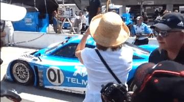 Vrouw wordt omver gelopen bij Grand-AM pitstop
