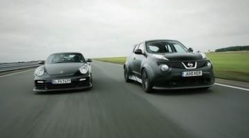 Nissan Juke-R vs Porsche 911 GT2 RS