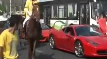Paard Schopt Ferrari 458 Italia