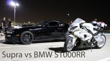 Toyota Supra vs BMW S1000RR