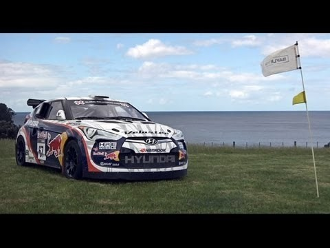 Rhys Millen gaat golven met de Hyundai Veloster Rally