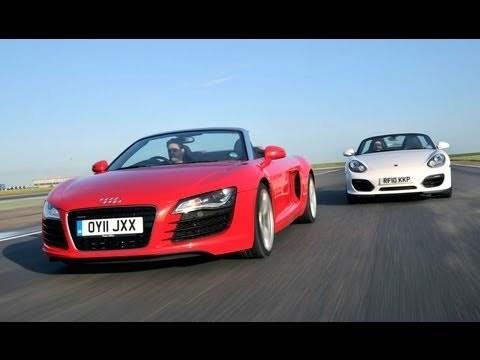 Audi R8 Spyder V8 vs Porsche Boxster Spyder
