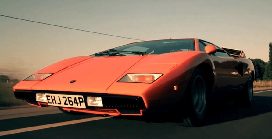 Valentino Balboni en de Lamborghini Countach LP400