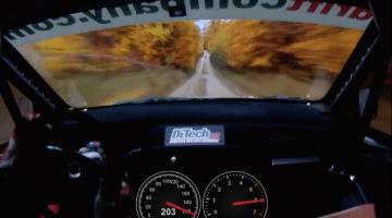 met 206 km/h door een bos
