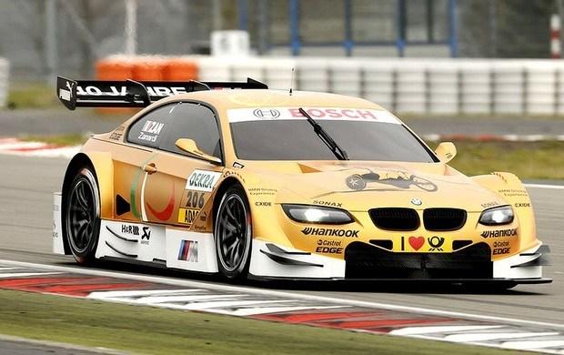 Alex Zanardi in de BMW M3 DTM op Nurburgring