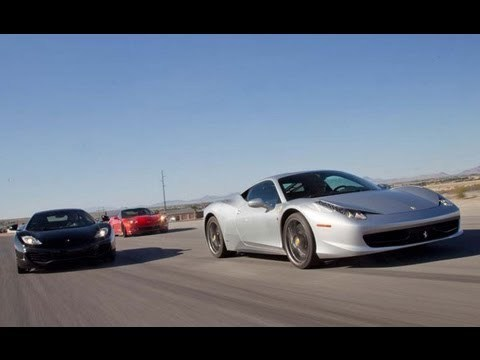 Chevrolet Corvette ZR1 vs Ferrari 458 Italia vs McLaren MP4-12C