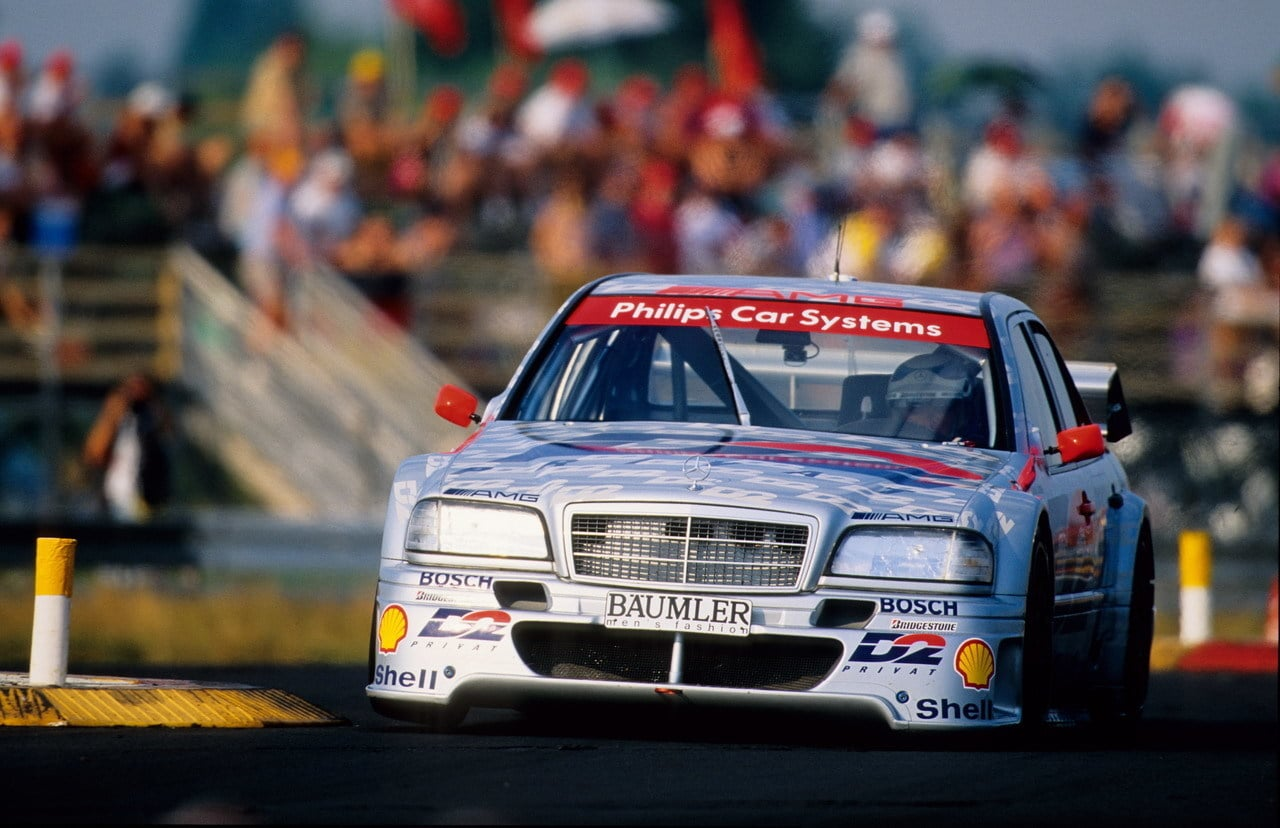 Tiff Needell test 1994 Mercedes C Class DTM