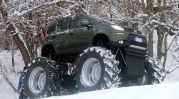 Wie heeft er een Fiat Panda Monster Truck gebouwd?
