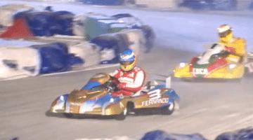 Fernando Alonso Wint Ice Karting Wrooom