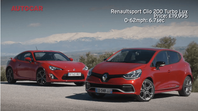 Renault Clio RS 200 Turbo vs Toyota GT86