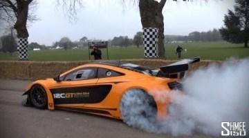 McLaren 12C GT Can-Am Edition Burnouts