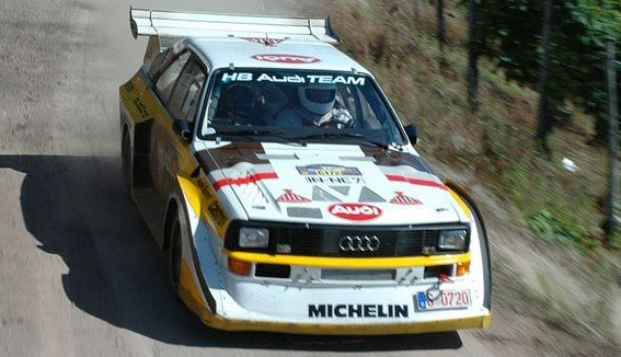 Group B Audi Quattro S1 at 1000 Lakes Rally