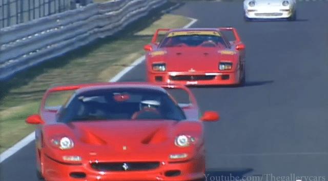 Ferrari F40 vs F50 vs F355 vs Diablo GT op Suzuka
