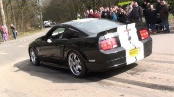 Ford Mustang Burnout Fail