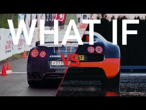 What if: Bugatti Veyron Super Sport vs Nissan GT-R AMS Alpha 12+