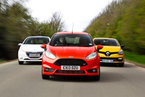 Ford Fiesta ST vs Peugeot 208 GTi vs Renault Clio RS
