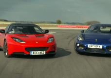 Porsche Cayman S vs Lotus Evora S Track Battle