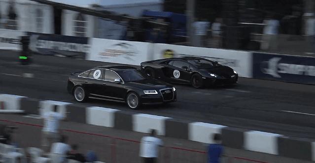Audi RS6 Sportmile R900 vs Lamborghini LP700-4 Aventador