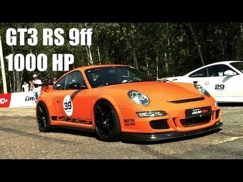 9FF GT3 RS Drag Race tegen GT-R en 911 Turbo