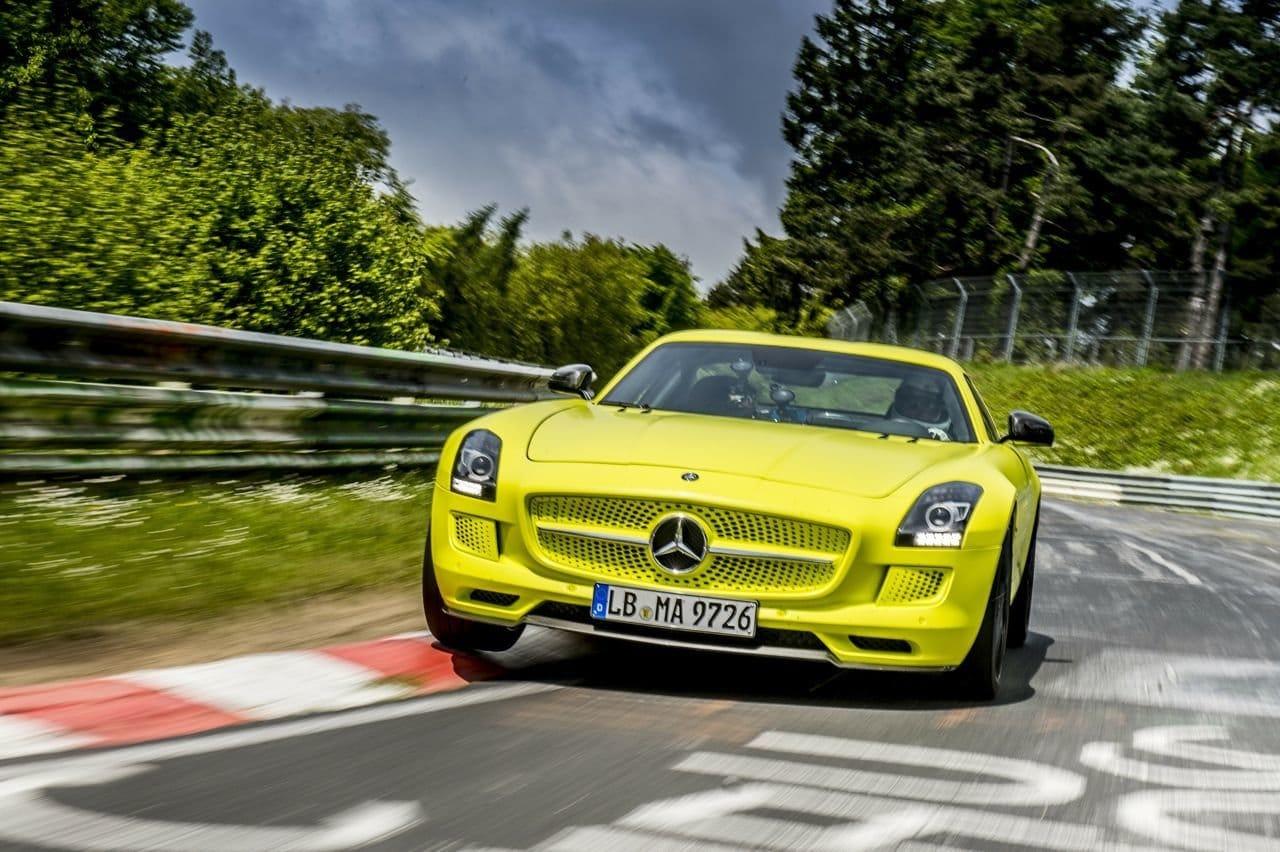 Mercedes SLS Electric Drive Nordschleife Lap