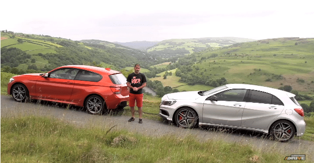 Chris Harris Test Mercedes A45 AMG vs BMW M135i