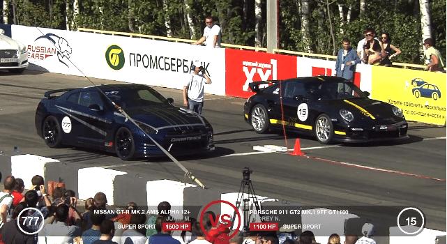 Porsche GT2 9ff vs GT-R AMS Alpha 12+