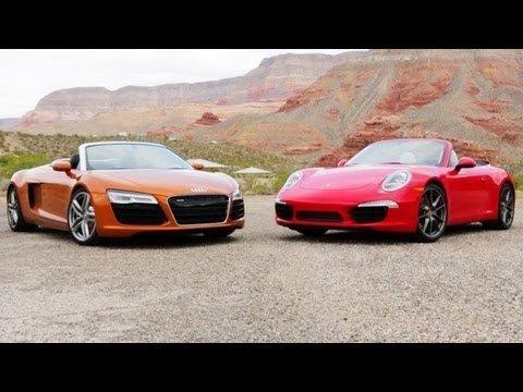 Audi R8 Spyder vs Porsche 911 Carrera S Cabrio