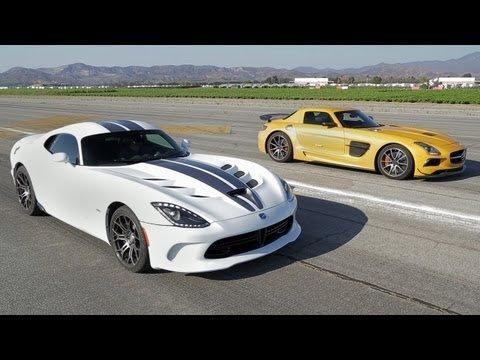 Mercedes-Benz SLS AMG Black Series vs SRT Viper