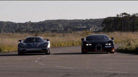 video koenigsegg agera r vs bugatti veyron grand sport vitesse. Black Bedroom Furniture Sets. Home Design Ideas