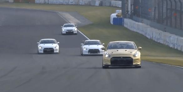 Tuned R35 GT-R Race op Tsukuba