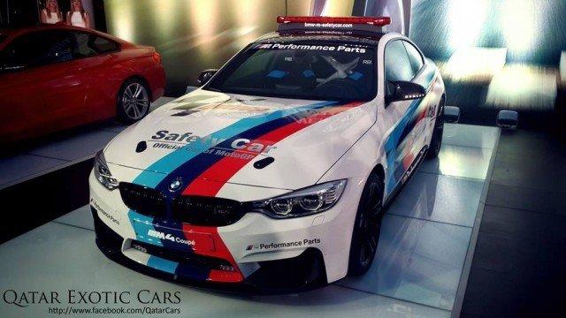 BMW M4 Safety Car voor Moto GP
