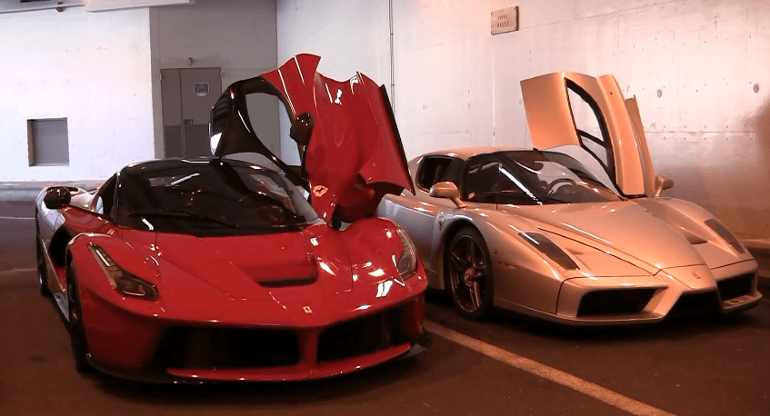 LaFerrari vs Ferrari Enzo Rev Battle