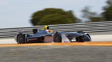 Ho-Pin Tung test Formula E auto