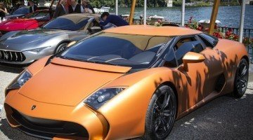 Lamborghini 5-95 Zagato op Concorso d'Eleganza Villa d'Este