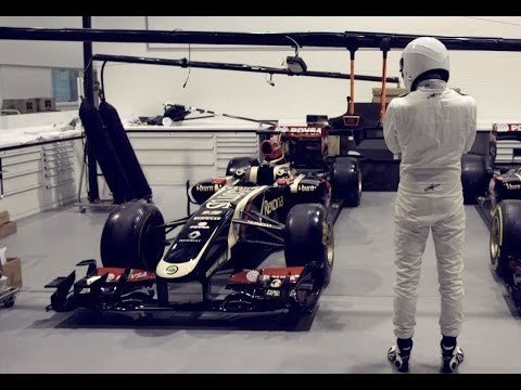 The Stig breaks into Lotus F1 HQ