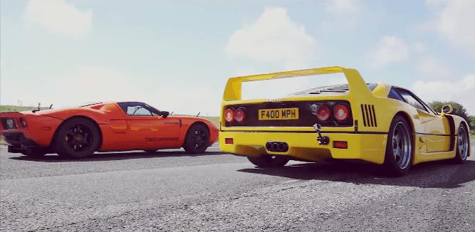 Supercar Drag Races: F40 vs 9FF vs Aventador vs GT 720 vs P1
